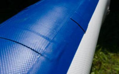 Seitenwange Verarbeitung eines geklebten SUP Board